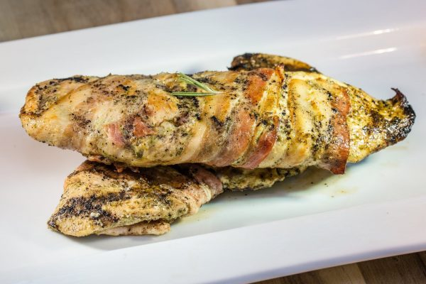 rosemary bacon wrapped chicken